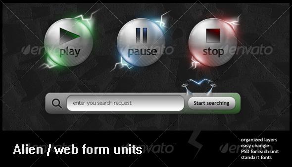 GraphicRiver Alien style web units 87346