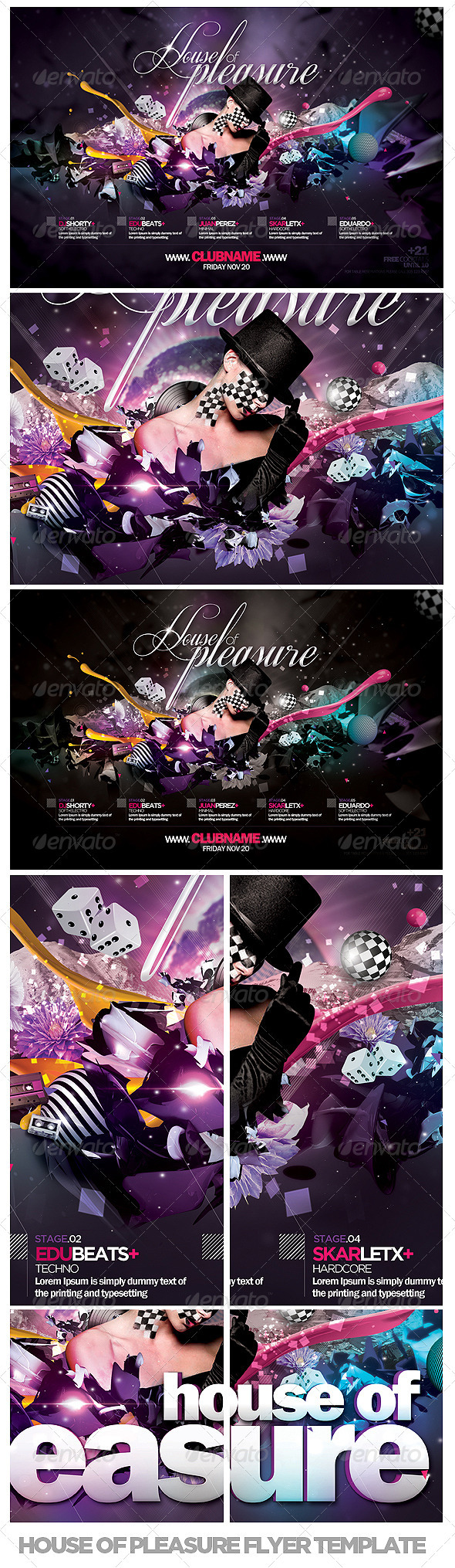 House Of Pleasure Flyer Template - Events Flyers