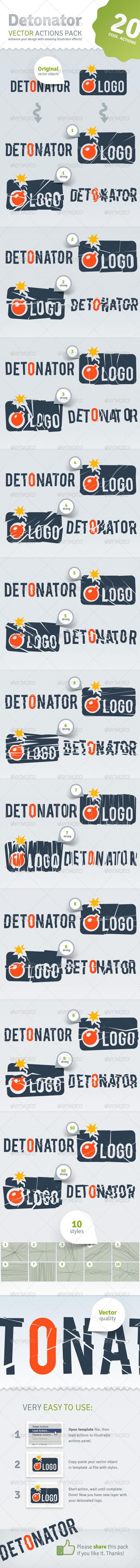 Vector Detonator - Illustrator Actions Pack - Actions Illustrator