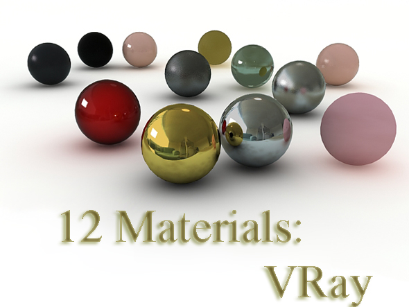12 VRay materials - 3DOcean Item for Sale