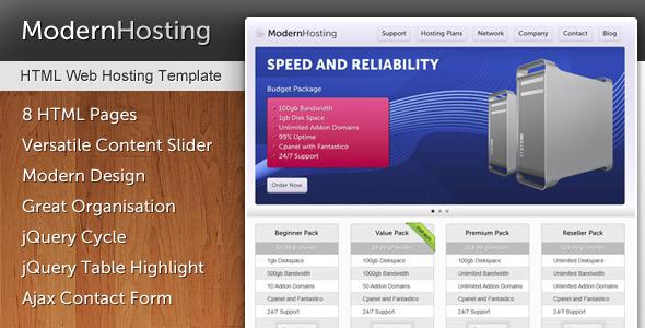 ThemeForest Modern Hosting 267060