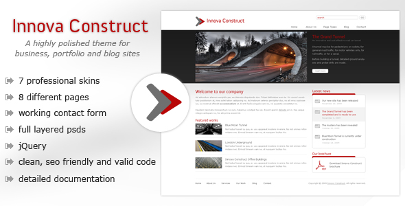 Innova Construct - Business, Portfolio, Blog -