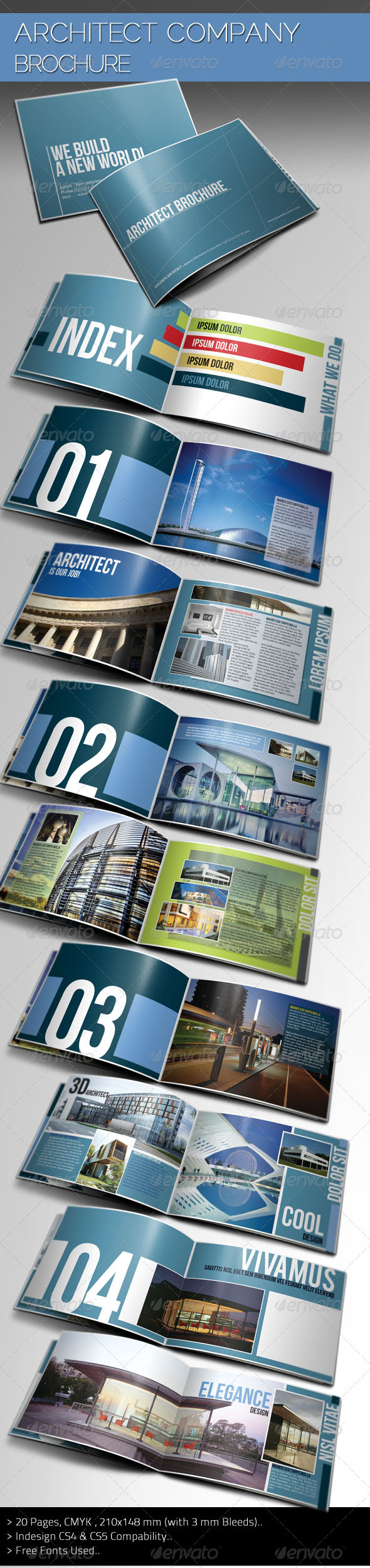 Architecture portfolio brochure design for Indesign interior