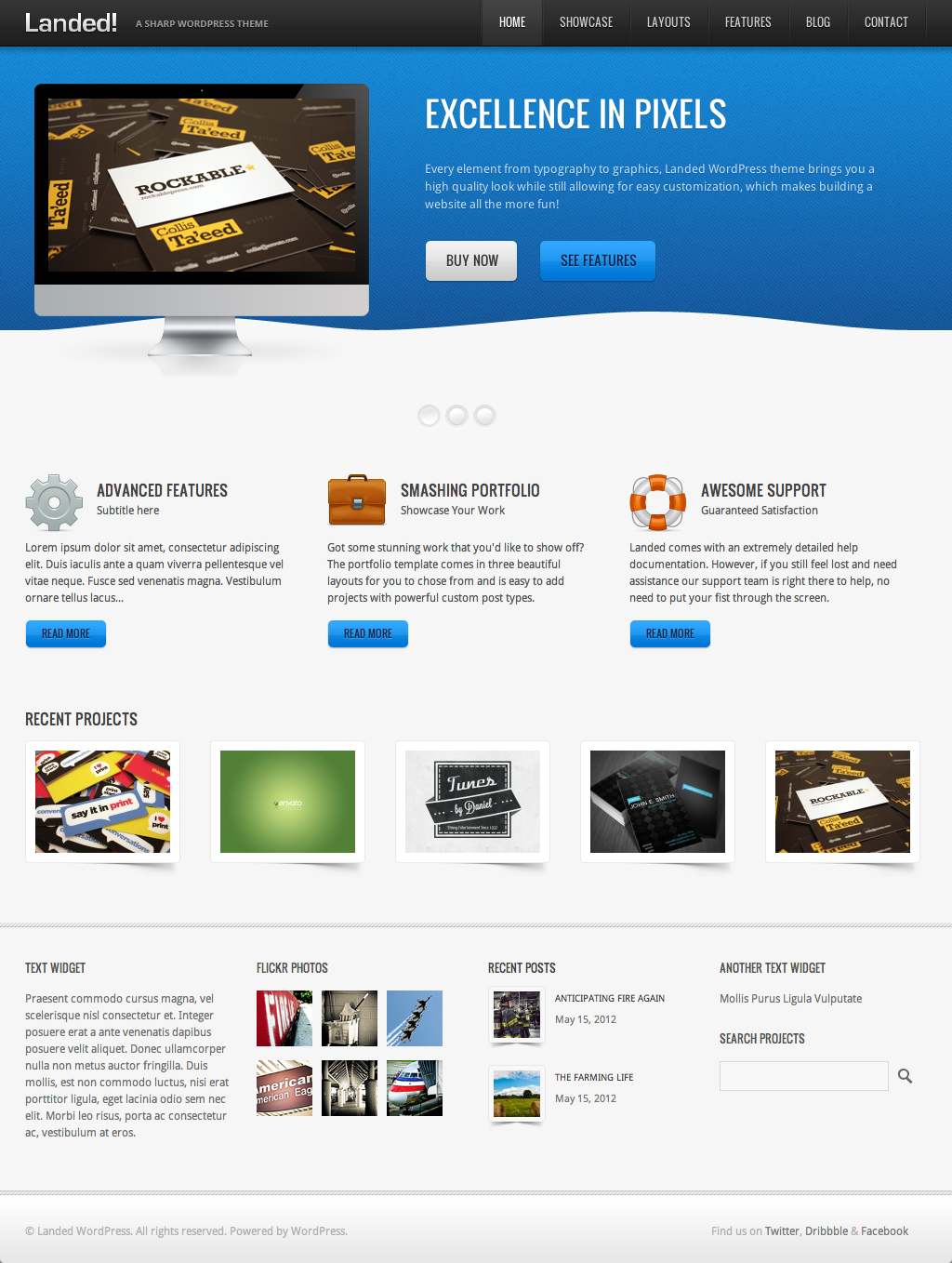 Landed - A Sharp WordPress Theme
