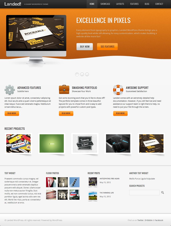 Landed - A Sharp WordPress Theme