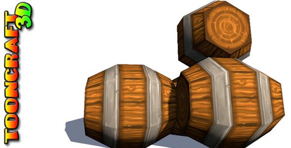 3DOcean Chunky Wooden Barrels 2364033