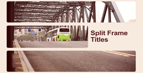 VideoHive Split Frame Titles 2348613