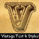 Rugged Vintage Text + Styles