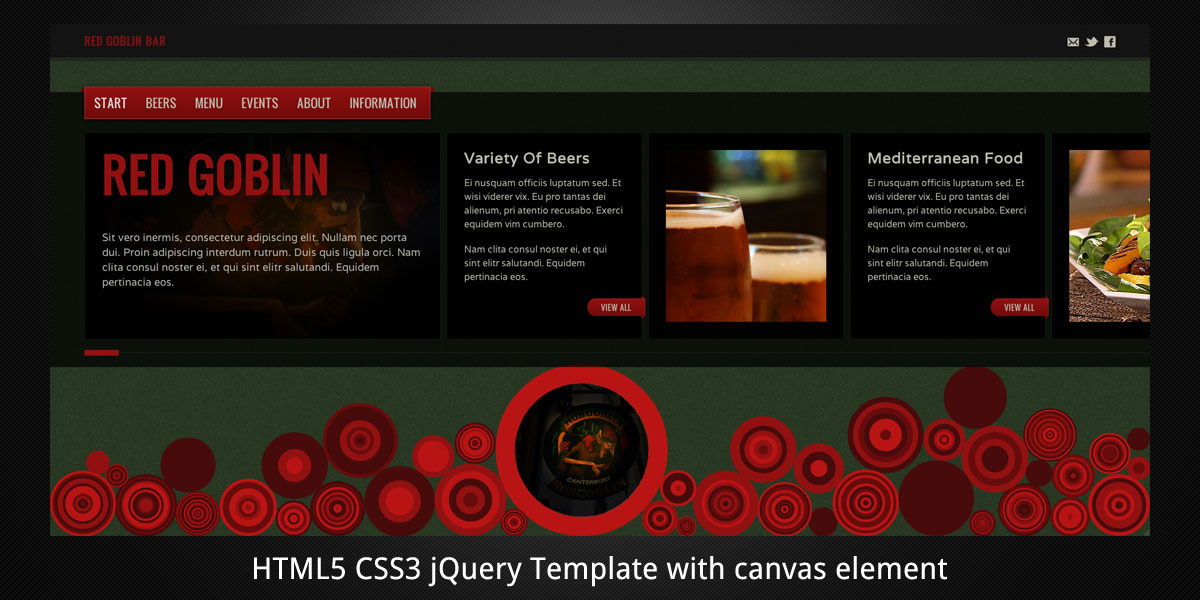 Red Goblin–HTML5 Template For Bars And Pubs