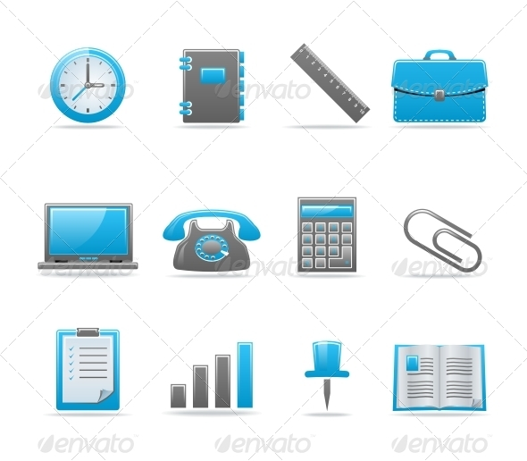 Glossy icon set - Business Icons