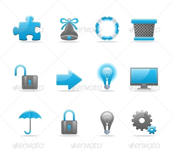 GraphicRiver Glossy icon set 85112