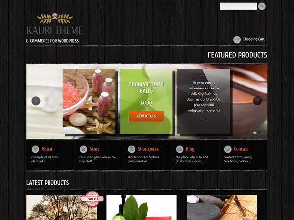 Kauri - responsive theme for WooCommerce