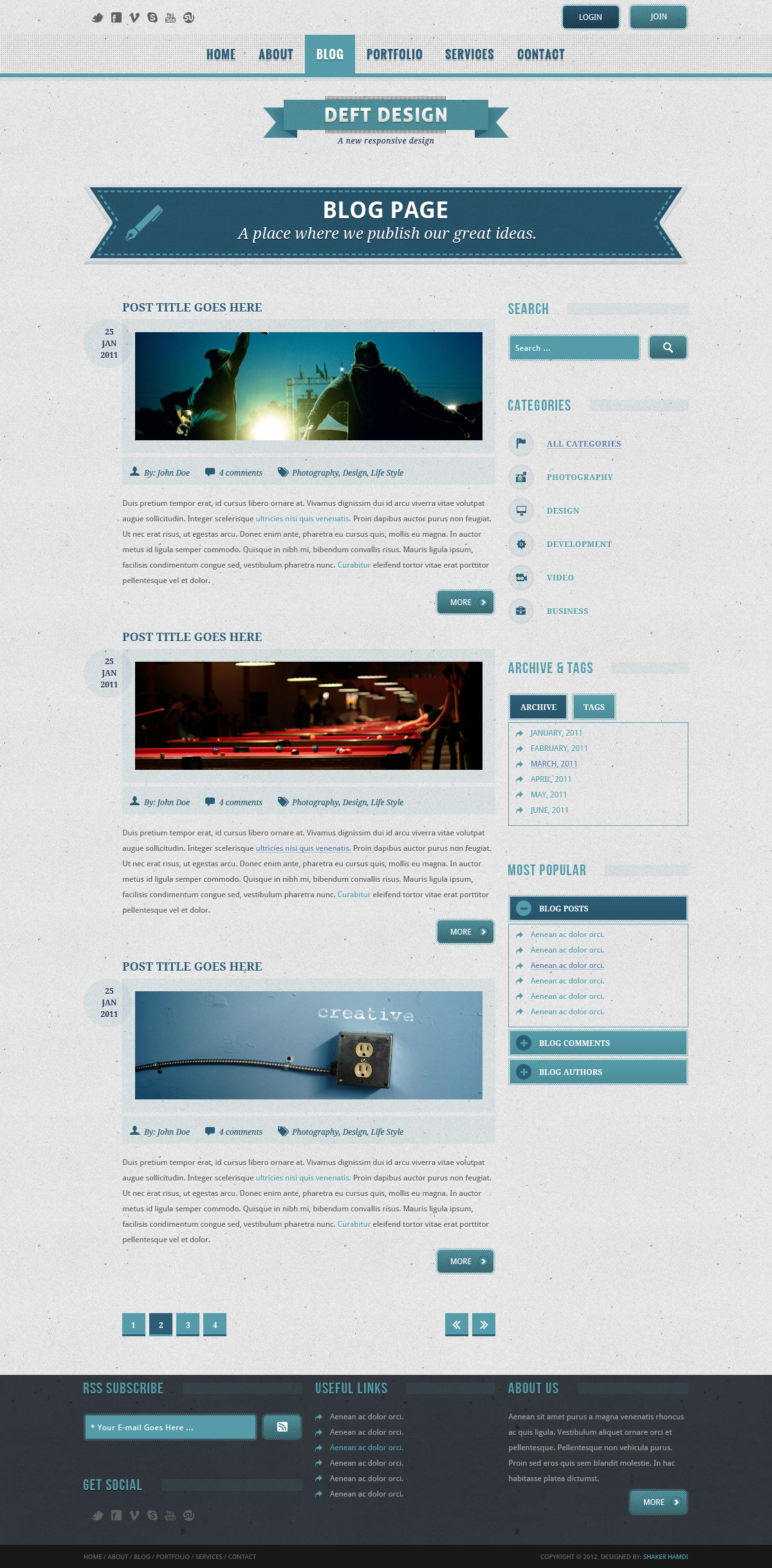 Deft Design - Light And Dark Responsive Template