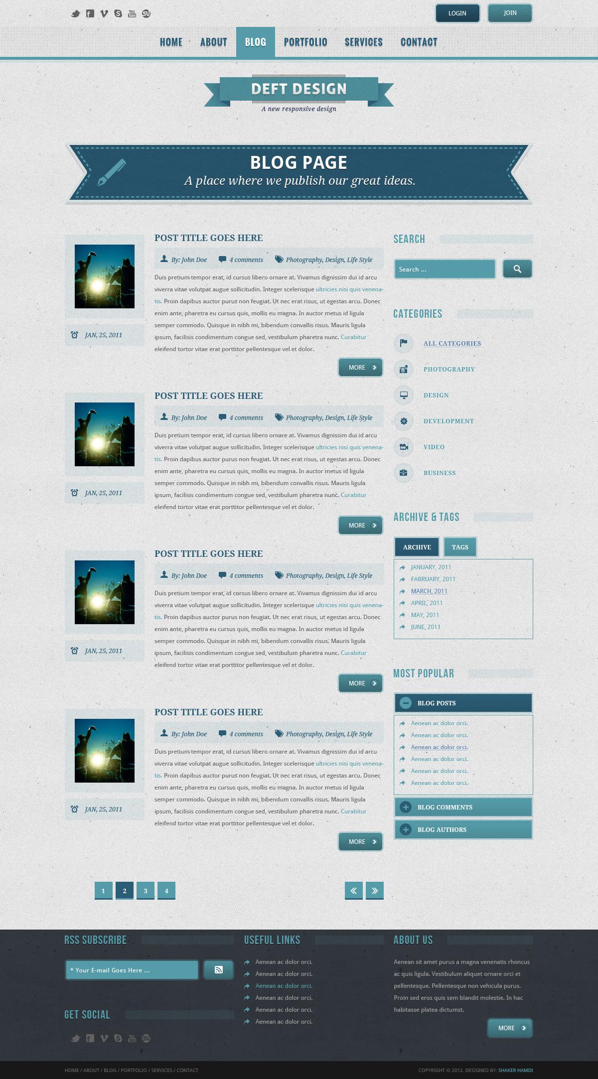 Deft Design - Light And Dark Responsive Template