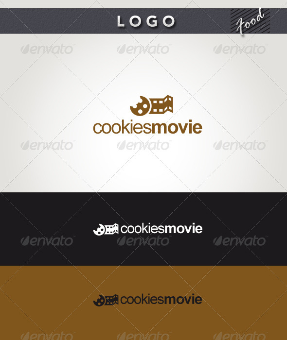 Cookies Movie Logo - Food Logo Templates
