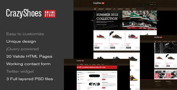 ThemeForest CrazyShoes Premium HTML template 2366523