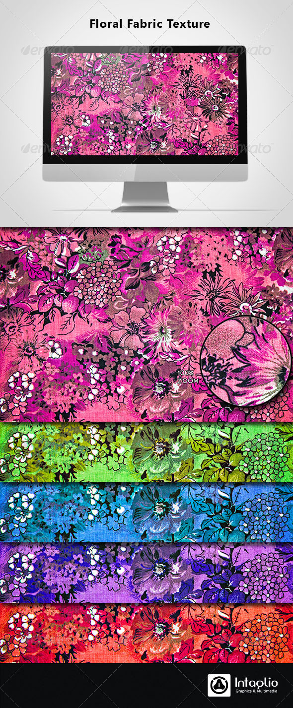 Floral Fabric Texture-02 - Fabric Textures