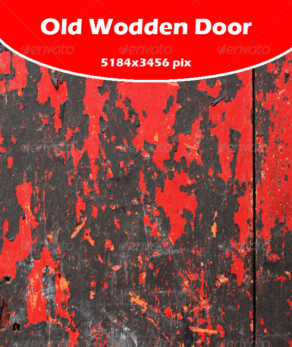 Red Wooden Door - Industrial / Grunge Textures