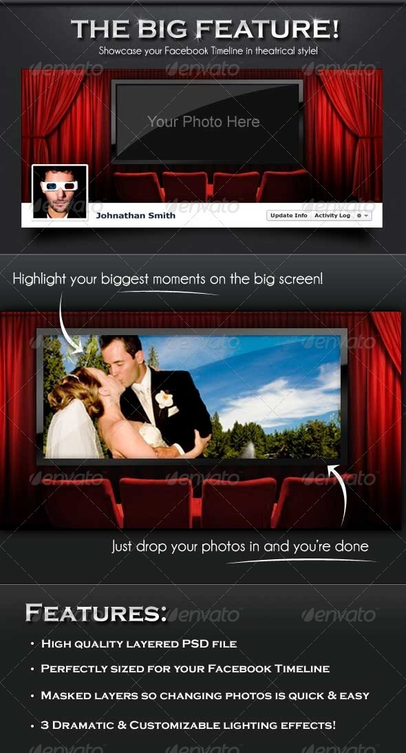 GraphicRiver The Big Feature Facebook Timeline Cover 2354310