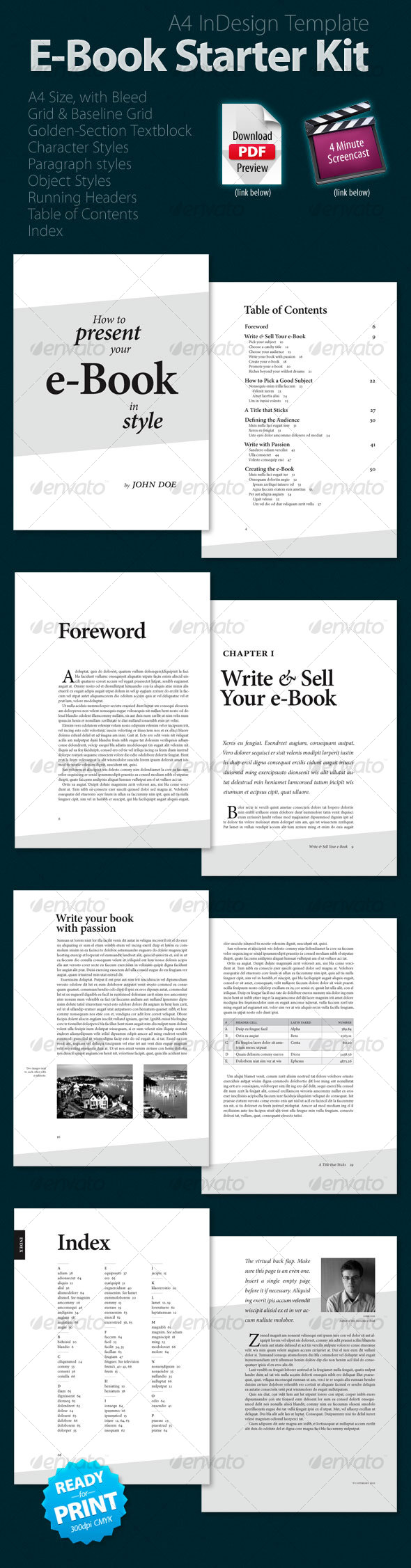 E-Book Starter Kit - Miscellaneous Print Templates