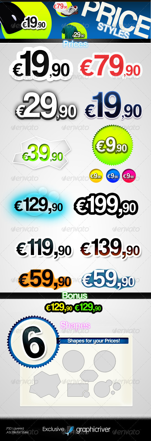 GraphicRiver Prices Text Styles 267693