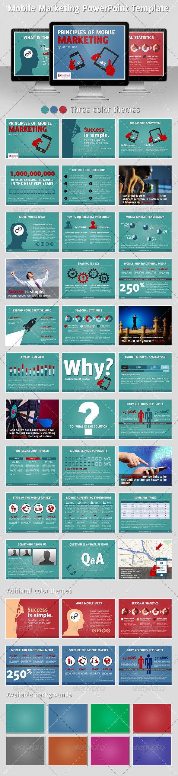 GraphicRiver Mobile Marketing PowerPoint Template 2370458