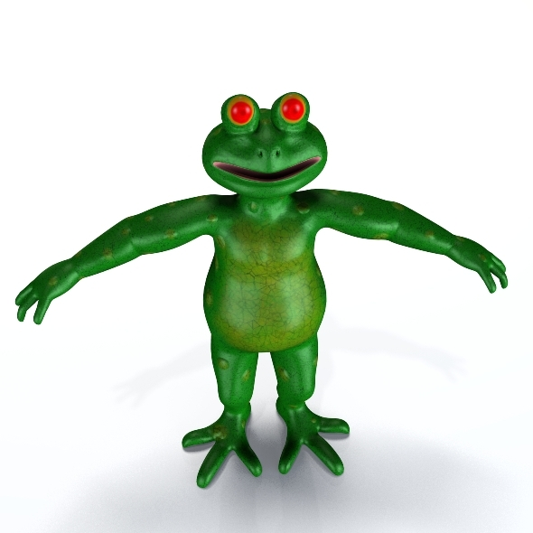 3DOcean Cartoon Frog 2370654