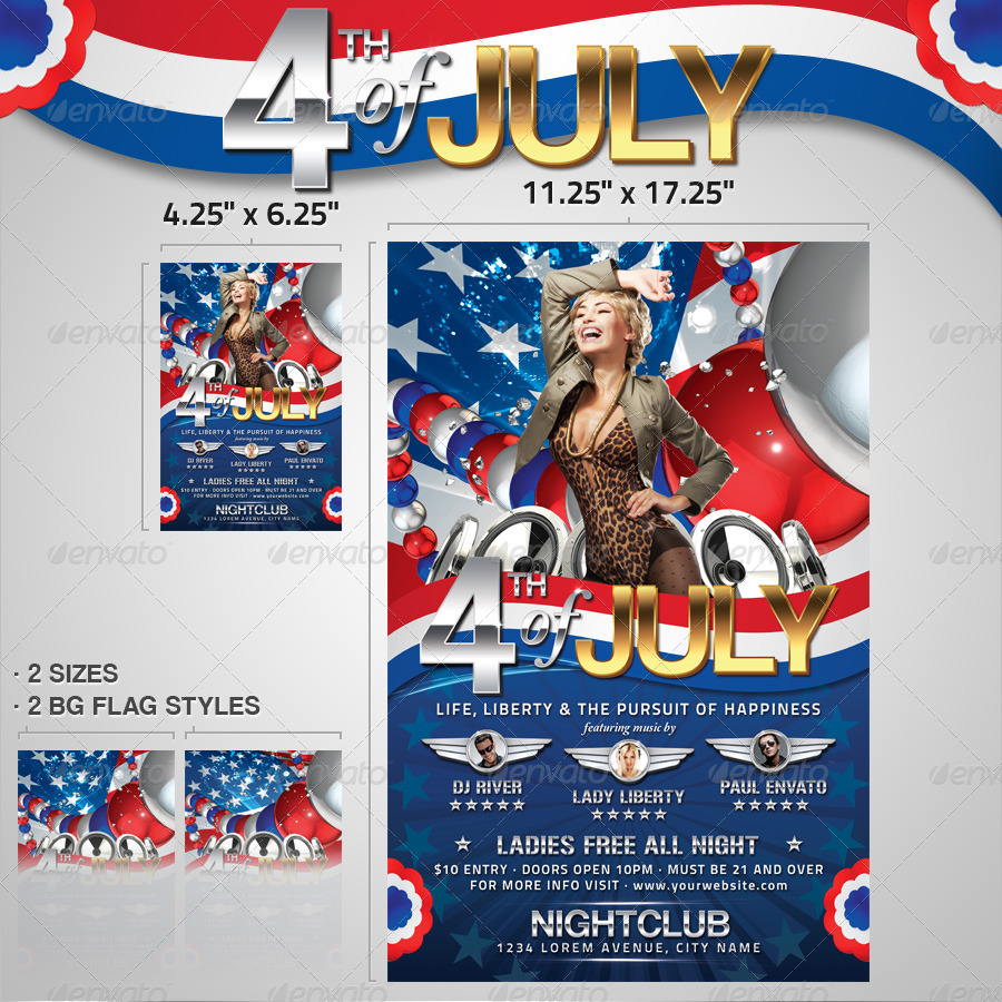 4th of july menu template - 4th of july flyer and poster template by designfathoms
