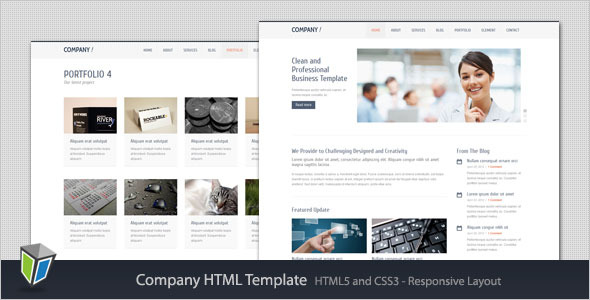 Company - Responsive Corporate HTML Template