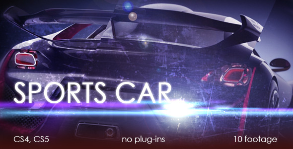 After Effects Project - VideoHive Sports car 2350519