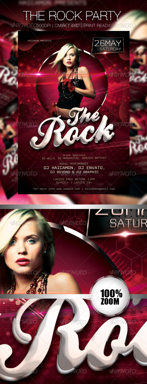 GraphicRiver The Rock Party Flyer 2354785