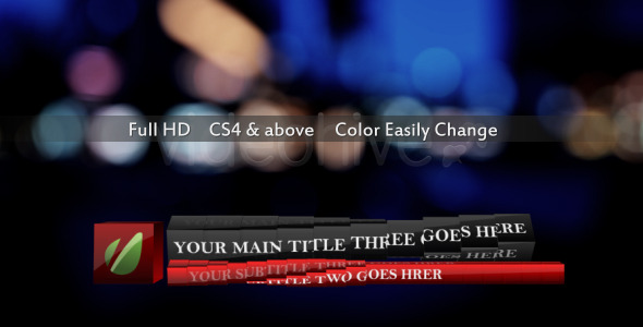 VideoHive Dynamic Rotate Box Lower Third 2372495