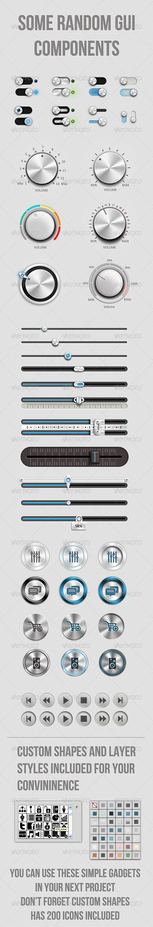 GraphicRiver Random GUI Components For Your Own Project 2372545
