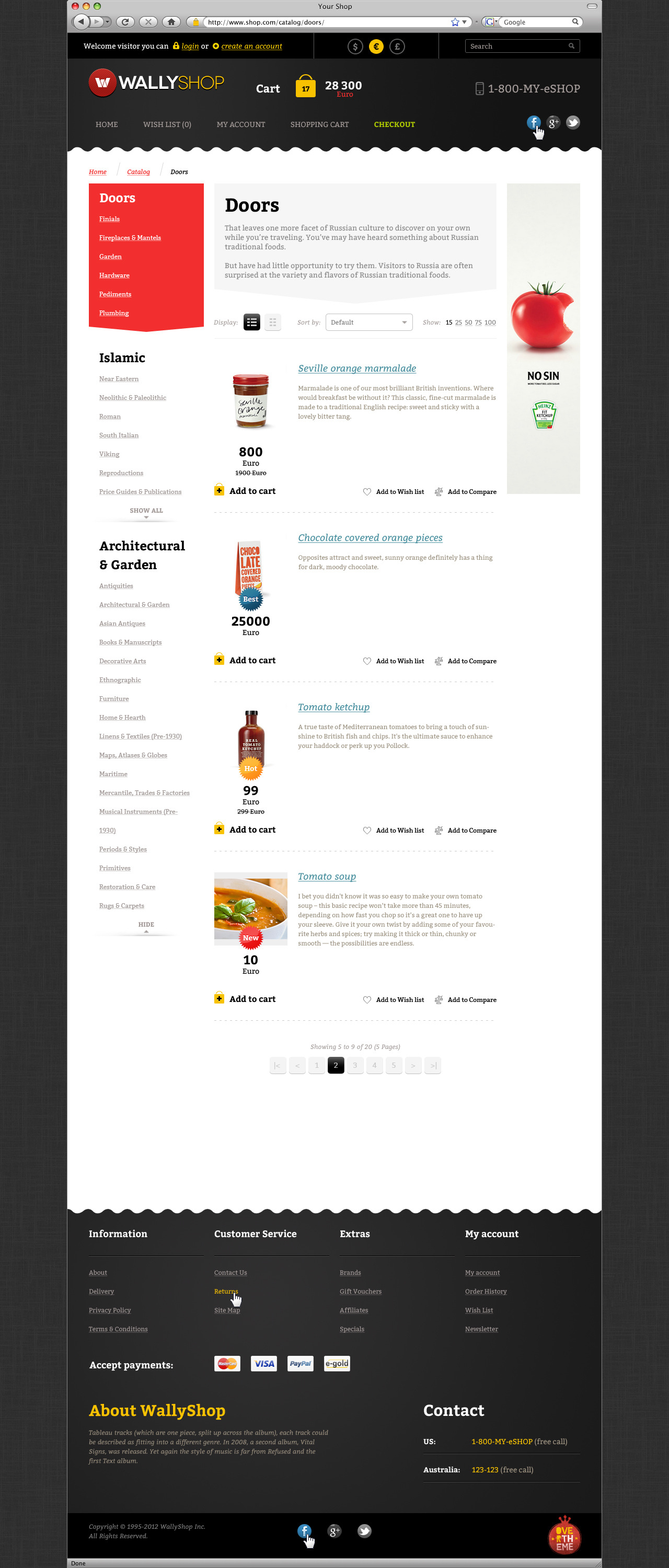 WallyShop for OpenCart PSD Template