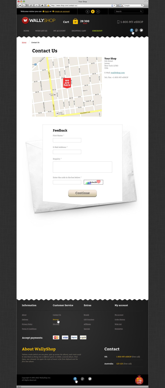 WallyShop for OpenCart PSD Template