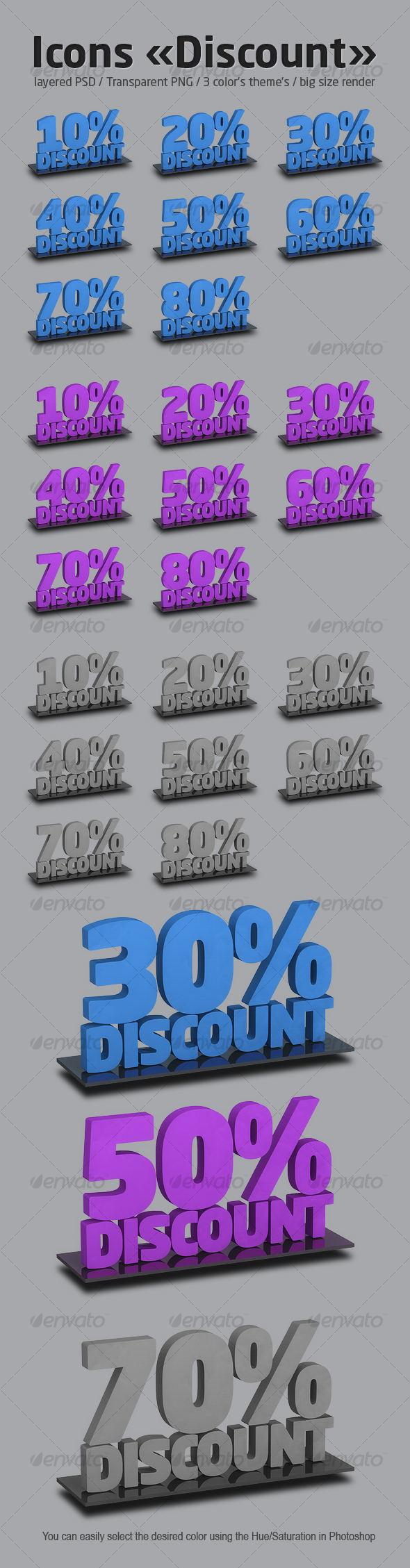 Icons set «Discount» - Business Icons