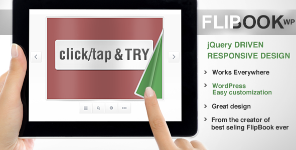 CodeCanyon Responsive Flip Book WordPress Plugin 2372863
