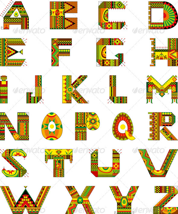 Alphabet Ethnic Ornamental - Miscellaneous Vectors
