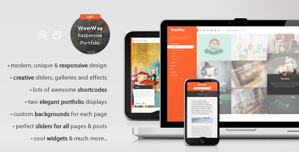 ThemeForest WowWay Interactive & Responsive Portfolio Theme 2374321