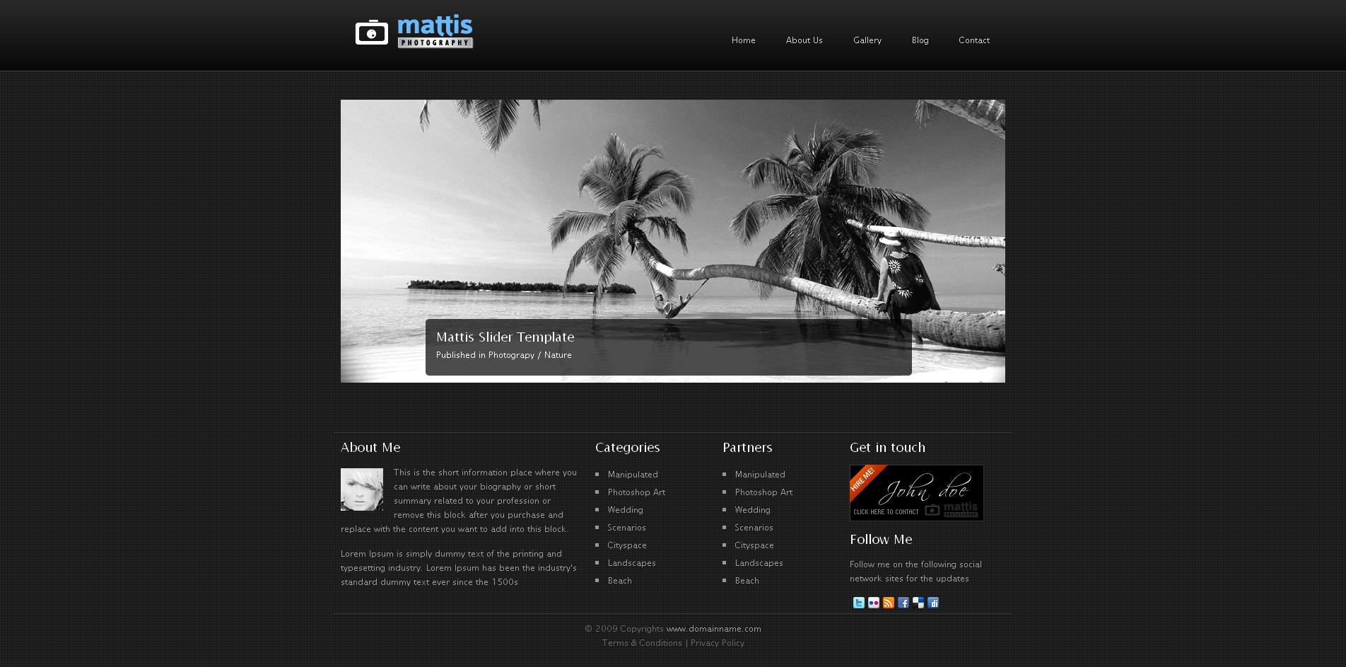 Mattis - Photography HTML/CSS Template