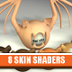 8+7 Human Skin Shaders Pack For CINEMA4D (C4D)