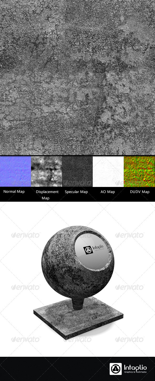 3DOcean Cement Wall Tileable Seamless Texture 01 2377491