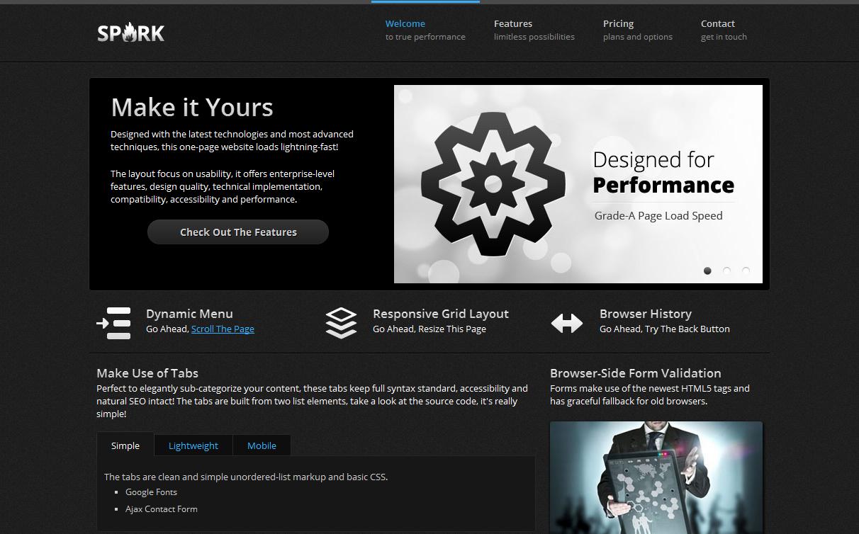 Spark Responsive & Retina One-Page WordPress Theme