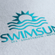 Swim Sun Logo - GraphicRiver Item for Sale