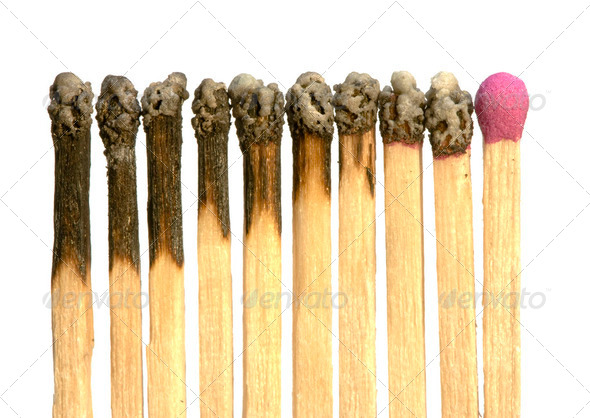 One Match Left - Stock Photo - Images