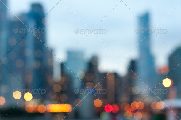 Bokeh Skyline - Stock Photo - Images