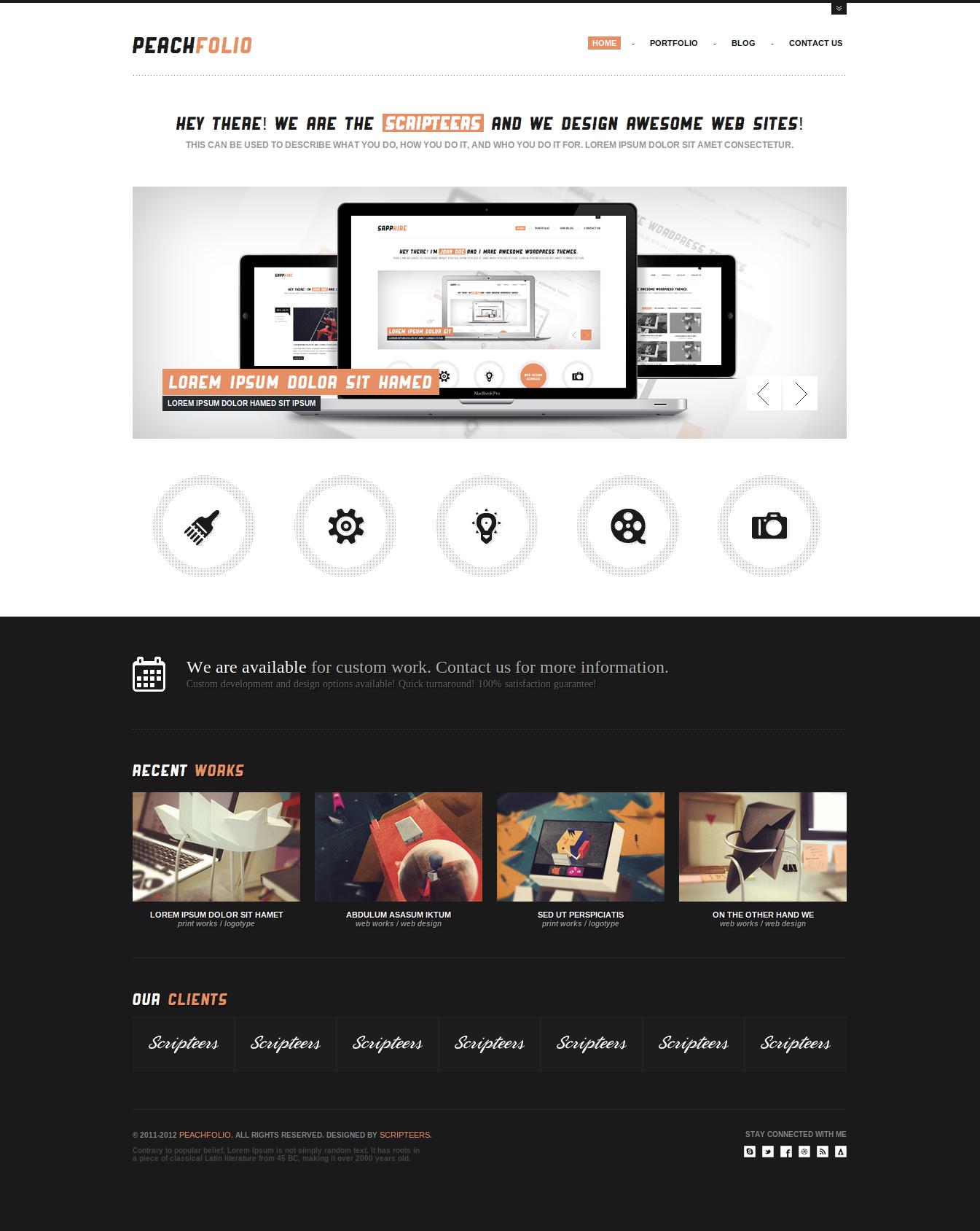 PeachFolio - Premium XHTML/CSS Portfolio Template