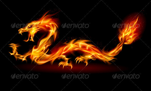 Fire Dragon - Tattoos Vectors