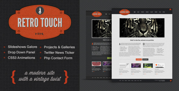 ThemeForest Retro Touch Creative Portfolio Html Template 2380101