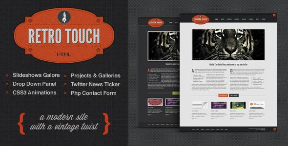 Retro Touch - Creative Portfolio Html Template